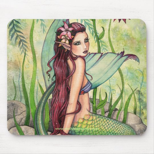 Mermaid Mousepad by Molly Harrison