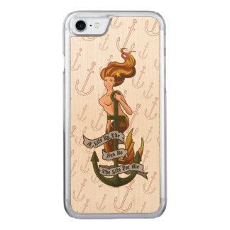 mermaid_msorange_slimwood carved iPhone 7 case