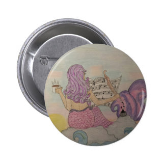 Mermaid Music 2 Inch Round Button
