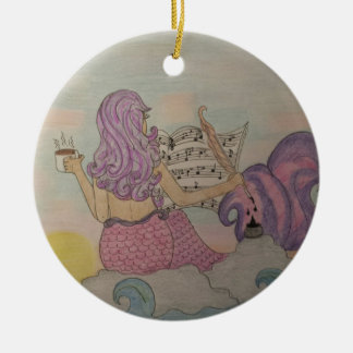 Mermaid Music Ceramic Ornament