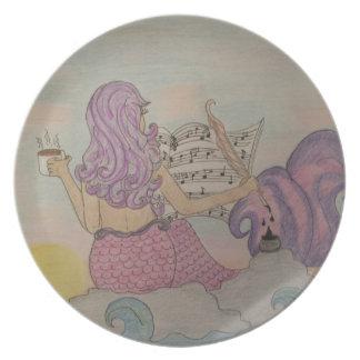 Mermaid Music Dinner Plate