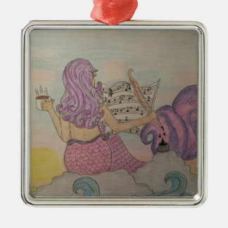 Mermaid Music Metal Ornament