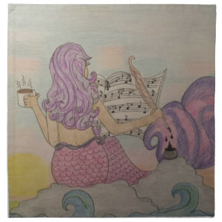 Mermaid Music Napkin