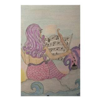 Mermaid Music Stationery