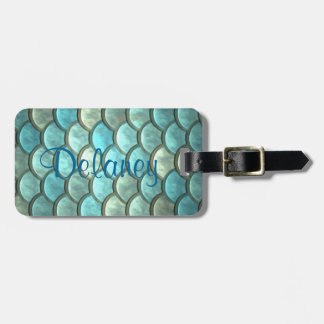 Mermaid Name Luggage Tag