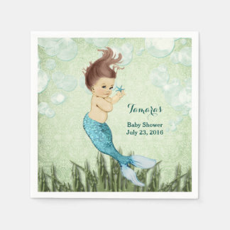 Mermaid Napkins Paper Napkins