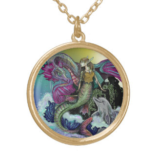 Mermaid~necklace Gold Plated Necklace