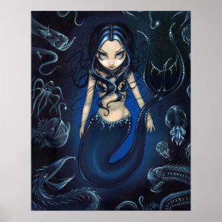 Mermaid of the Deep ART PRINT abyssal zone