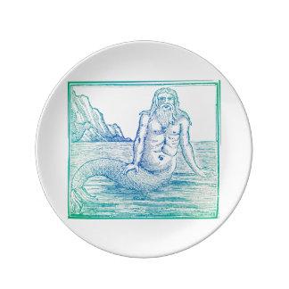 Mermaid of the Merman Variety Porcelain Plates