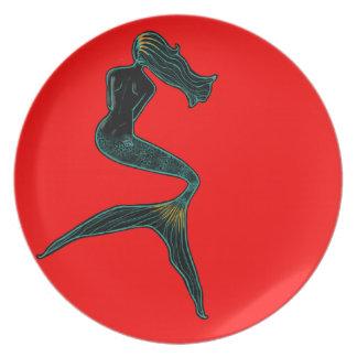 Mermaid of the Moon (Scarlet) Plate