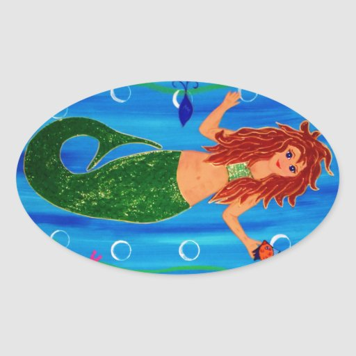 Mermaid of the Sea Stickers