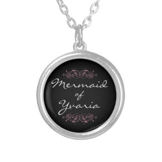 Mermaid of Yvaria Necklace - Pink with Black
