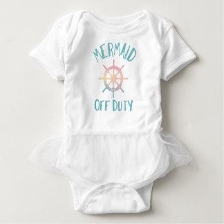 Mermaid off Duty, Beach Nautical Theme Baby Bodysuit