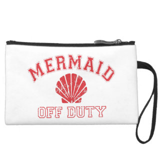 Mermaid Off Duty Distressed Vintage Suede Wristlet
