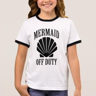 Mermaid off duty funny girls shirt