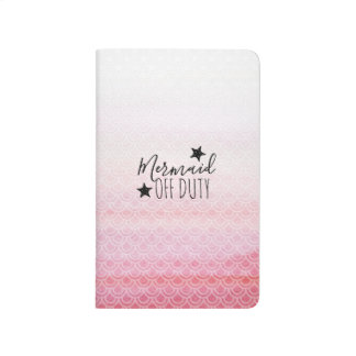 Mermaid Off Duty Pink Watercolor Scales Journal