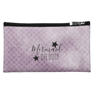 Mermaid Off Duty Purple Watercolor Cosmetic Bag