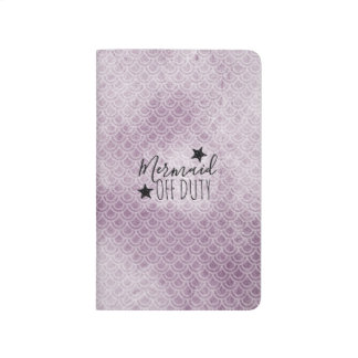 Mermaid Off Duty Purple Watercolor Scales Journal