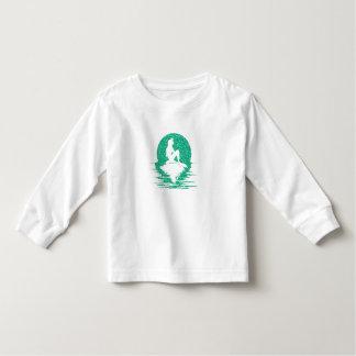 Mermaid on a rock - Green Glitter Toddler T-shirt