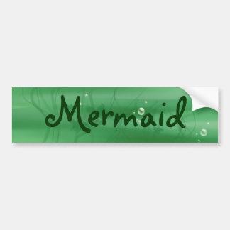 Mermaid on board bumper sticker