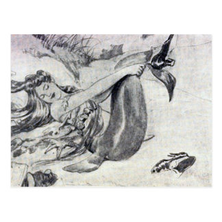 Mermaid on the Beach Postcard