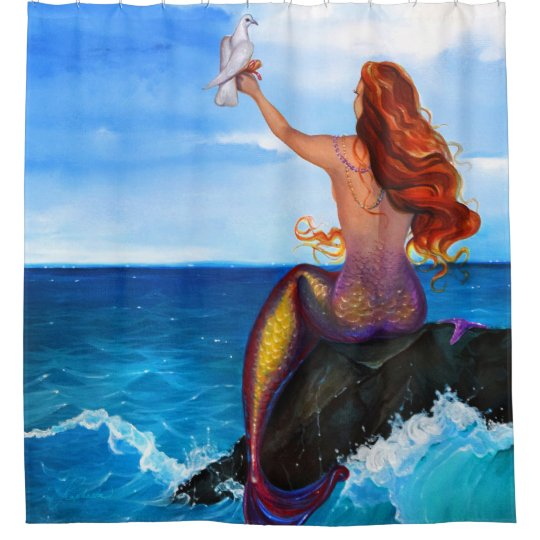 Mermaid Painting Shower Curtain