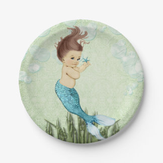 Mermaid Paper Plates 7 Inch Paper Plate