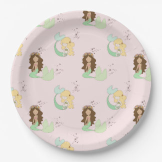 Mermaid Party 9 Inch Paper Plate