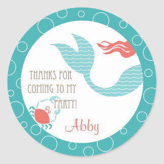 Mermaid Party  |  Favor Sticker