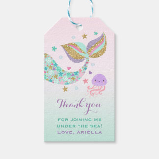 Mermaid Party Favor Under The Sea Thank You Tag Pack Of Gift Tags