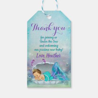 Mermaid Party Favor Under the Sea Thank You Tags
