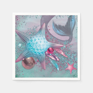 Mermaid Party Napkins Paper Napkin