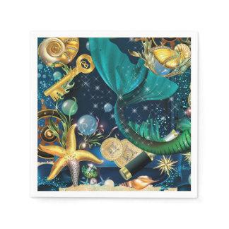 Mermaid Party Napkins Paper Napkins
