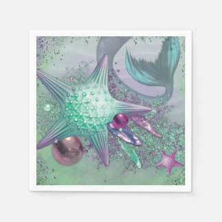 Mermaid Party Napkins Paper Napkins