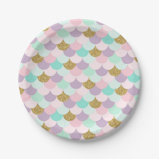 Mermaid Party Paper Plates Under the sea Party