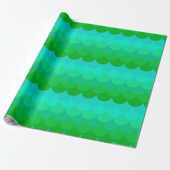 mermaid pattern fishscale wrapping paper