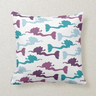 mermaid pattern throw pillow, accent decor throw pillow