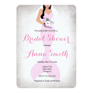Mermaid Pink vintage bridal shower invite pink