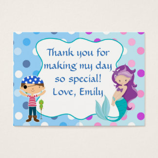 Mermaid Pirate Under The Sea Gift Favor Label Tag