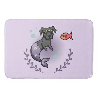 Mermaid Pit Bull 2 Bath Mat