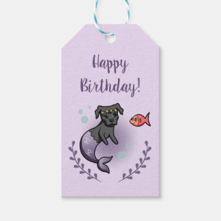Mermaid Pit Bull 2 Birthday Gift Tags