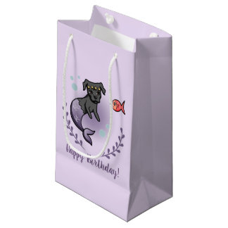 Mermaid Pit Bull 2 Birthday Small Gift Bag