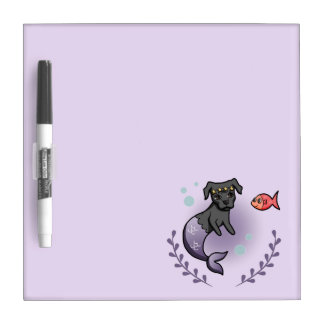Mermaid Pit Bull 2 Dry Erase Board