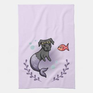 Mermaid Pit Bull 2 Kitchen Towel