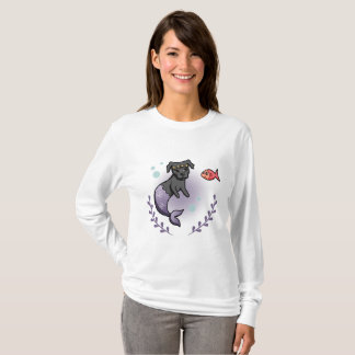 Mermaid Pit Bull 2 T-Shirt