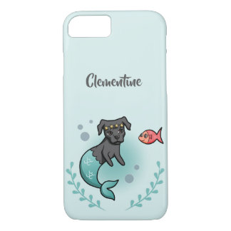 Mermaid Pit Bull | Add Your Name iPhone 8/7 Case