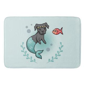 Mermaid Pit Bull Bath Mat