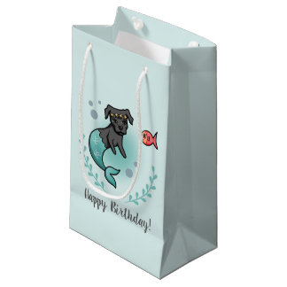 Mermaid Pit Bull Birthday Small Gift Bag