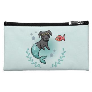Mermaid Pit Bull Cosmetic Bag