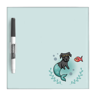 Mermaid Pit Bull Dry Erase Board